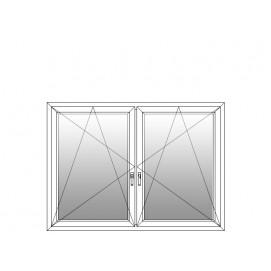 Aluplast 2-teilig mit Pfosten DKL DKR