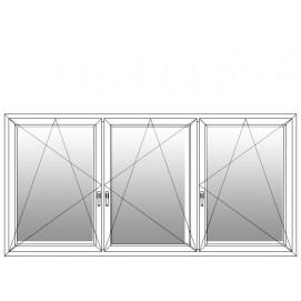 3 teiliges fenster mit pfosten dkl dkr dkr for Fenster 3 teilig